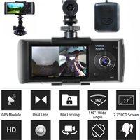 Car Camera Dvr GPS Dual Lens Camcorde 1080p Dash Cam With Rear 2 Vehicle View Dashboard Night Vision Mini Cameras