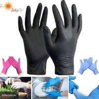 Com luvas de nitrilo de caixa black 100 pçs / lote alimento grau de trabalho descartável luvas de segurança para limpeza luvas nitril pó livre s m l 201207