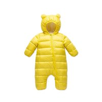 Baby Rompers Winter Newborn Down Coat Bodysuits Infant Babies Clothes Girls Boys Jumpsuit Hooded Kids One Piece Clothing Toddler Outwear Keep Warm Cartoon B8764