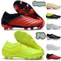 أعلى الرجال أحذية كرة القدم كوبا 19 fg أحذية كرة القدم البيج الشمسية الأحمر الأسود الفضة فولت الأبيض الزمرد الذهب أزياء رجالي مصمم المرابط أحذية رياضية