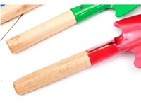 Бытовые садовые лопаты растения с деревянной ручкой железа шпатель садоводство горшечные гаджеты пляж DWF8350