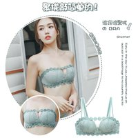 Nanjiren Underwear Women's Wireless Small Breast Push up Push up Traceless Sexy Bra Adjustable Girl Lace Bra 2021