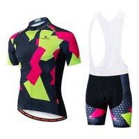 2021 Yaz Bisiklet Jersey Seti Nefes Takım Yarış Spor Bisiklet Kitleri Erkek Kısa Bisiklet Giysileri M23