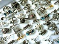 Wholesale 50PCS Top alloy Mix fashion punk Rings Women's Men's Exquisite Finger Ring Jewelry Lot