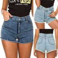 Jeans Womens Mini Pants High Waist Denim Shorts Hole Beach Bottom Summer Baggy Donne