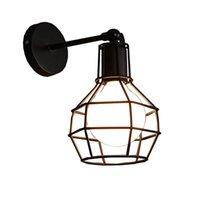 Wall Lamp VTLIU Retro Vintage Industrial Iron Art Light Bedside Living Room Sconce LED Indoor Fixture