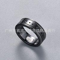 Dubbel 99 oude zwart-wit keramische ring paar paar ringen valentines dag cadeau fabriek prijs Directe levering uit een stuk dropshipping