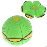 Flying ufo плоский бросок дисковый шар со светодиодной светлой игрушечной игрушечной игрушкой открытый сад баскетбол