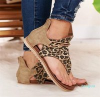 Sandals Women Summer Clip Toe shoes Vintage rome ladies Flat casual Comfort Beach sandlas Zipper female plus size 35-43 Y
