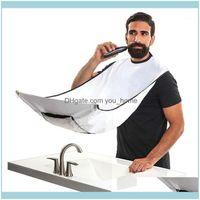 Aprons Textiles Home & Garden Male Beard Apron Care Clean Hair Adult Bibs Shaver Holder Bathroom Organizer Gift For Man Shaving Cloth Drop1