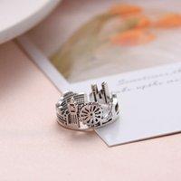 RingS925 Sterling Silver Castle ring design for men and women
