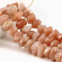 10mm natural faceted Sunstone Stone Irregular Liso Espaçador Spacer Beads para Jóias Fazendo Brincos de Bracelet DIY 75 / 15inche