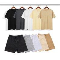 남자 디자이너 Tracksuit 티셔츠 럭셔리 고품질 여름 바지 조깅 정장 인쇄 브랜드 패션 코튼 스포츠웨어 남성 여성 의류
