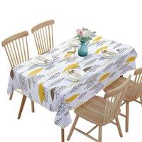 Водонепроницаемые скатерти растение пасторальный стол ткань фона пластиковый дом декор мантел Toalha de Mesa