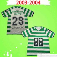 Sporting Lisbon Retro 2003 2004 футбол для футболки # 28 C.RONALDO 03 04 Винтаж Maillot Danny Camisa de Futebol SA Pinto Classic Футбольная рубашка Топ Униформа