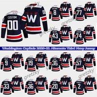 사용자 정의 워싱턴 수도권 Hockey Jerseys 8 Alexander Ovechkin 43 Tom Wilson 74 John Carlson 13 Jakub Vrana 모든 번호와 이름