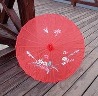 Adultes Chinois Fabriqué à la main Tissu Parapluie Voyage Voyage Couleur Couleur Oriental Parasol Parasols Outils de mariage Fashion AccessoiresZC6488