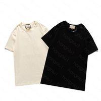 Erkek T Gömlek 2021ss Yaz Moda Gömlek Mektubu Baskılı Klasik Kadınlar Erkekler Kısa Kol