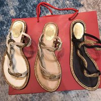 80% rabatt på nätet flat häl skor för kvinnor kristall orm klipp tå sommar gladiator sandaler flipflops äkta läder 2021 kallt strand kvinnor