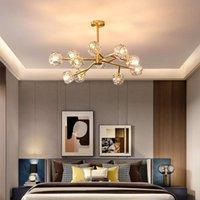 Chandeliers Nordic LED Chandelier For Living Room Bedroom Modern Luxury Crystal Home Decor Indoor Lighting Kitchen Fixtures