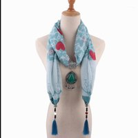 Lenços colar lenço boêmia colares para mulheres algodão jóias envoltório feminino acessórios1