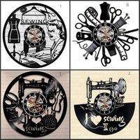 Costura salão relógio de parede alfaiataria pulso de disparo 12inch 30 cm Cai-cabo presente preto clockface1 692 k2