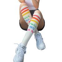 Sports Socks 2021 Fashion Women Sport Professional Yoga Colorful Basketball Climbing Camping Running Compression Stockings