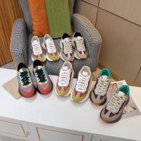 2021 디자이너 Rhyton 스니커즈 신발 남성 여성 트레이너 빈티지 럭셔리 Chaussures 숙 녀 스포츠 캐주얼 신발 디자이너 러너 운동화 상자 크기 35-46