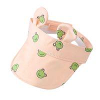 New Bunny Baby No Roof Hat Breathable Summer Folding Visor Baby Cap Cute Adjustable Kids Sun Hat For Boys Girls Child Light Cap