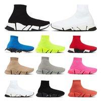 جورب الأحذية سرعة 2 .0 مصممي الفمز عارضة الرجال النساء أسود أبيض روبي أحمر رمادي بيج فلوه الأصفر أزياء مسطحة خمر الرياضة في الهواء الطلق