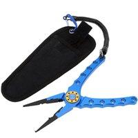 Accessoires de pêche Portable 20cm Pince multifonctionnelle extérieure Ligne Couper Coupe Crochet Tackle avec une pochette noire
