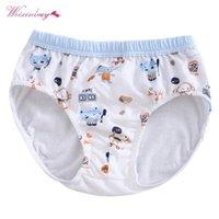 Трусики Weixinbuy 6 стилей рожденные детское хлопковое нижнее белье девушки мальчики милые улыбка милые детские трусы