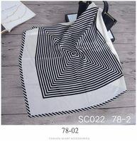 Scarves Products 2021 Women's Silk Scarf Square Hair Band Farad Head Brand Shawl 70*70cm Headscarf
