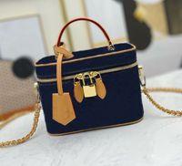 المنظم جودة النساء التجميل أنيق أكياس ماكياج الجلود الأزياء 4 ألوان عالية السعة مصممة سيدة تخزين مربع حقيبة حمل حقيبة