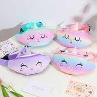 Kid Backpack Unicorn Fanny Pack Belt Waist Bag Sequins Beach Student Teenager Purses Sports Unisex Gym Outdoor Cosmetic Bags