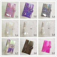 9 colores A6 Creative Notebook Binder PVC 6 Anillo Agujero Notepad Cover Scrapbook Photo Album File Carpeta