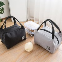 Storage Bags Portable Lunch Bag Thermal Insulated Box Tote Office Cooler Bento Pouch Lunchbox Food Container Handbag
