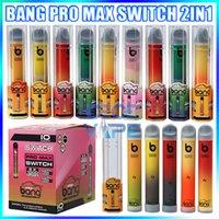 새로운 Bang Pro Max 스위치 일회용 vape 펜 2 in 1 장치 7ml 포드 2000 퍼프 스 뱅 Xxtra Vape Kit