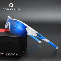 Солнцезащитные очки Comaxsun Expertacular Профессиональный поляризованный велосипед Очки для очков на открытом воздухе Велосипеды UV 400 с 5 объектива TR90BYR7