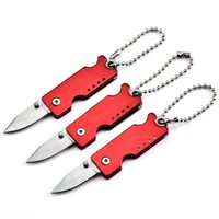 Mini Anahtar Toka Otomatik Bıçak Alüminyum Cep Katlanır Mini Kesme Aracı Hediye Bıçaklar Noel Bıçağı HW180