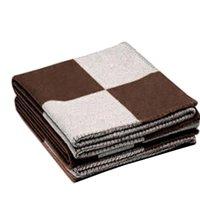 Castela de cashmere letra impressa de malha throw throw xadrez de lã de crochê para sofá / cadeira / assento de amor / carro camping cobertor xaile