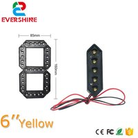 Segmento Color Giallo LED Numero modulo Modulo da 6 pollici A Gas Outdoor Prezzo Display Segni Moduli