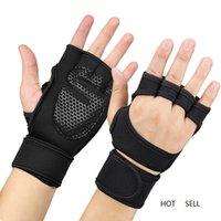 1 Paar -Slip Sport Gym Fitness Handschuhe Stoßfest Gewichtheben Trainingshandschuh Hälfte Finger Radfahren Handschuhe Für Männer Frauen