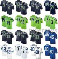 2021 Seahawks American Football Jerseys DK 14 Metcalf Jersey Jamal 33 Adams Kenny 45 Easley Russell 3 Wilson Steve 80 Largent Steve Tamaño S-XXXL