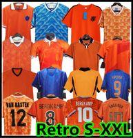 1988 rétro Pays-Bas Soccer Jersey 2012 Gullit Van Basten 2000 2002 1998 1994 Holland Vintage Football Shirts Classic 1996 Rijkaard Davids Jerseys