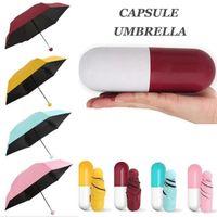 Mini protetor solar à prova de chuva à prova de chuva guarda-chuva dobrável anti-uv à prova de vento Pequeno guarda-chuvas de bolso compacto caso para engrenagem de chuva de viagem