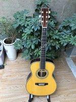 공장 고품질 39 인치 옴 어쿠스틱 기타, 솔리드 스프루스 탑 플레이트, 흑단 지판, 로즈 우드 측면 및 뒤로, 사용자 정의 기타