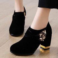 Dress Shoes GIGIFOX Big Size 52 Trendy Chunky Heels Platforms Women's Pumps Classics