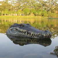 Hot Sales 2.4GHz Flutuante Crocodilo Cabeça Piscina RC Crocodilo Barco Brinquedos X0522