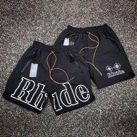Rhude Shorts Casual Hombres Ropa Mujer Señoras Correr Techwear Baloncesto Tablero de verano Fitness Boxers Gym Drawstring Swim Troncs